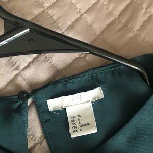 H&M deep green top
